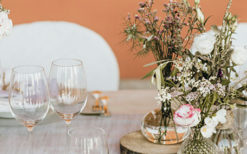 boho chic wedding mise en place