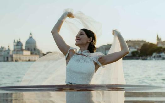 wedding Venice water taxi