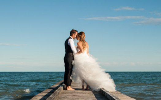 matrimonio molo spiaggia