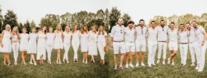 total white wedding