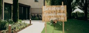 pannello welcome matrimonio