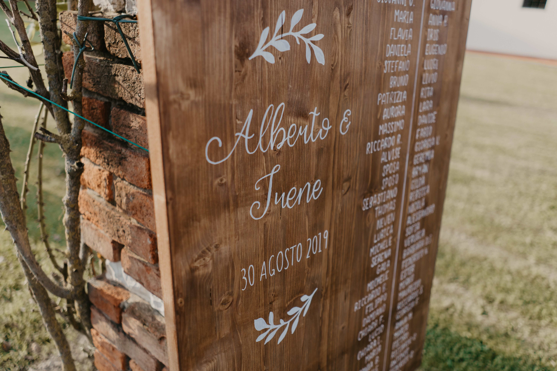 tableau de mariage legno